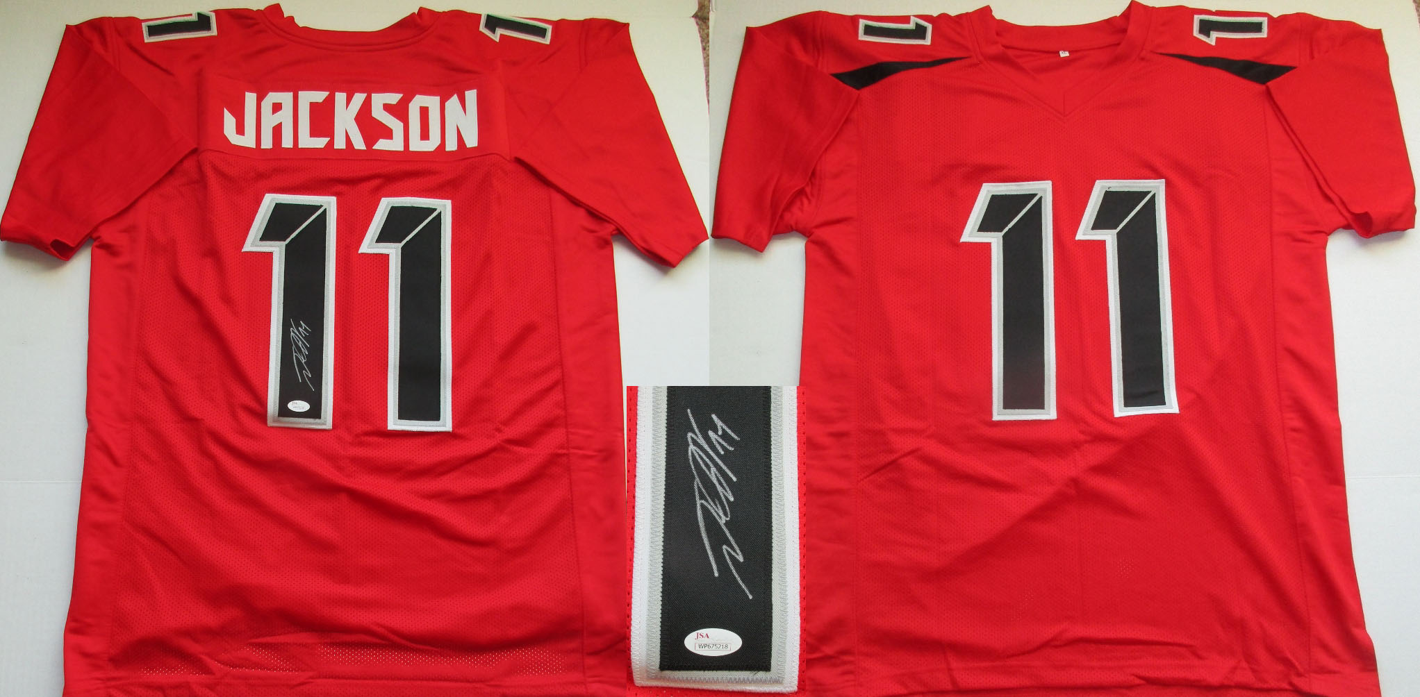 be5a8470e31 DeSean Jackson Autographed Tampa Bay Buccaneers Custom Jersey (Size XL w  sewn numbers + letters-JSA-$150)